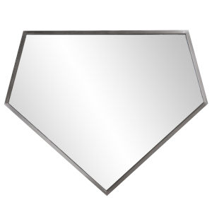 Quintin Brushed Silver Wall Mirror