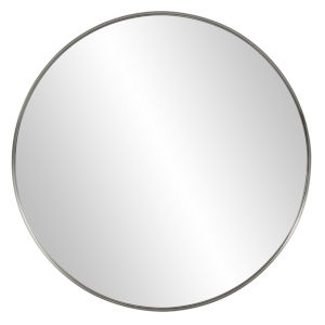 Steele Brushed Silver Round Wall Mirror