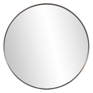 Steele Brushed Brass Round Wall Mirror