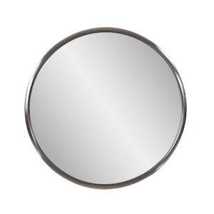 Yorkville Brushed Titanium 20-Inch Round Wall Mirror
