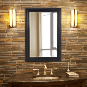 George Matte Black Rectangular Mirror