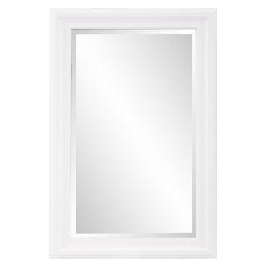 George Matte White Rectangular Mirror