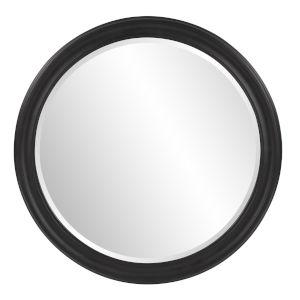George Matte Black Round Mirror