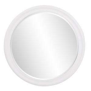 George Matte White Round Mirror