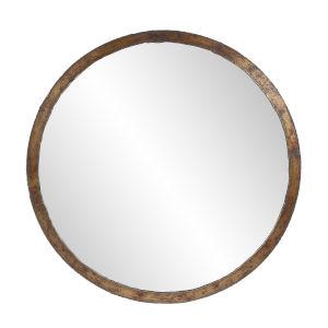 Marius Acid Treated Round Wall Mirror