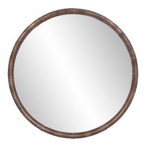 Nova Acid Treated Round Wall Mirror