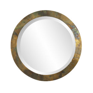 Camou Acid Treated 15-Inch Round Wall Mirror