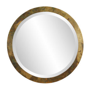 Camou Acid Treated 19-Inch Round Wall Mirror