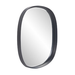 Asher Charcoal Gray Round Wall Mirror