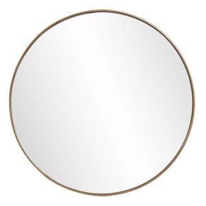 Jaxtyn Matte Bronze Round Wall Mirror