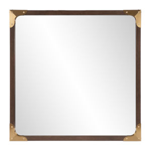Rogers Brass Square Wall Mirror