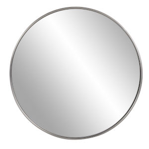 Copenhagen Brushed Silver Round Wall Mirror