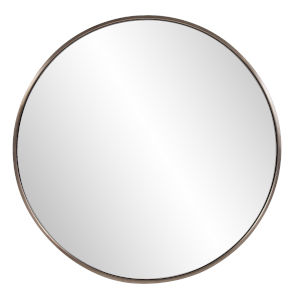 Copenhagen Brushed Brass Round Wall Mirror