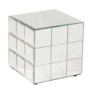 Antares Transparent Short Cube Pedestal