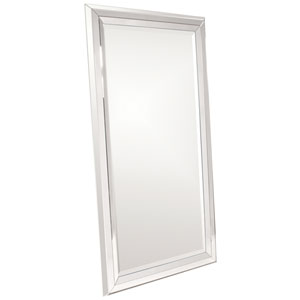Omni Wood Large Modern Rectangle Mirror