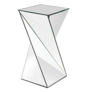 Aries Twisted Transparent End Table