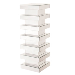 Stepped Clear Tall Pedestal