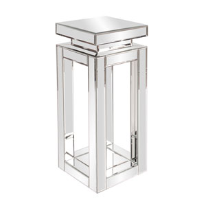 Mirrored Small {pedestal Table