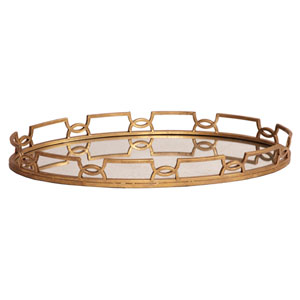 Bright Gold Metal Tray