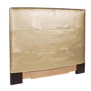 Shimmer Gold Twin Headboard Slipcover