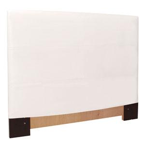 Avanti White Twin Headboard Slipcover