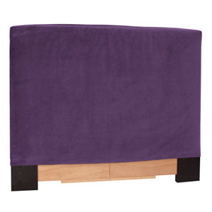 Bella Eggplant Full Queen Headboard Slipcover