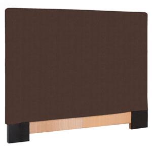 Sterling Chocolate King Headboard Slipcover