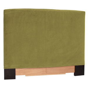 Bella Moss Green King Headboard Slipcover