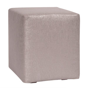 Glam Pewter Universal Cube Ottoman