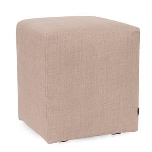 Prairie Linen Natural Universal Cube Ottoman