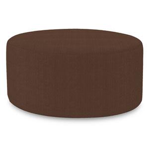 Sterling Chocolate Universal Round Ottoman