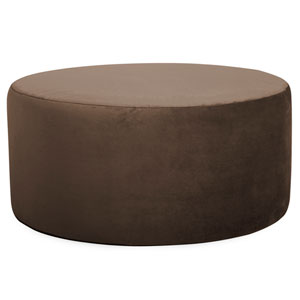 Bella Chocolate Universal Round Ottoman