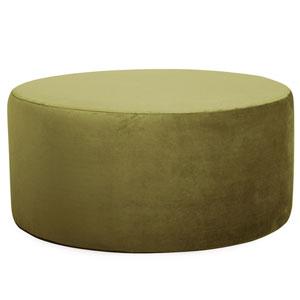 Bella Moss Green Universal Round Ottoman