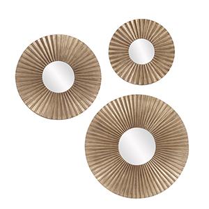 Malinda Round Mirrors- Set of 3