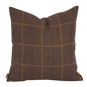 Oxford Chocolate 20 x 20 Pillow - Down Insert