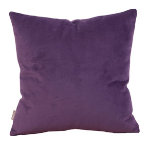 Bella Eggplant 20 x 20-Inch Pillow with Down Insert