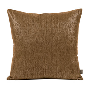 Glam Chocolate 20 x 20-Inch Pillow with Down Insert