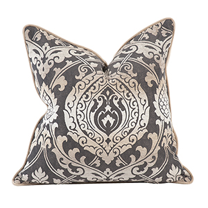 Davida Kay Damask Pewter 20 x 20 Pillow - Down Insert