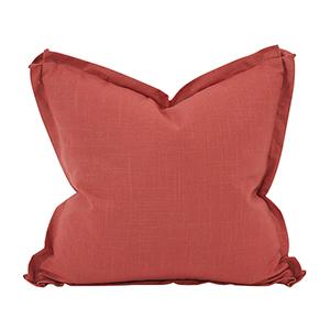 Davida Kay Linen Slub Poppy 20 x 20 Pillow - Down Insert