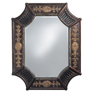 Orion French Brown Octagonal Mirror