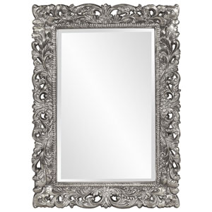 Barcelona Glossy Nickel Rectangle Mirror