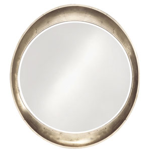 Ellipse Tan Round Mirror