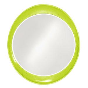Ellipse Glossy Moss Green Round Mirror