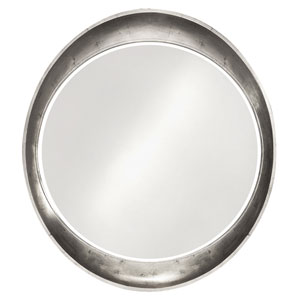 Ellipse Glossy Nickel Round Mirror