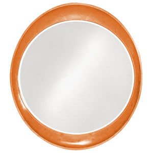 Ellipse Glossy Orange Round Mirror