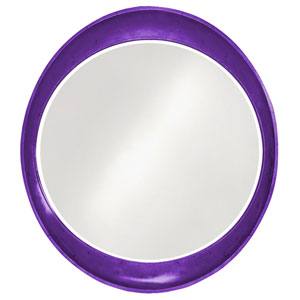 Ellipse Glossy Royal Purple Round Mirror