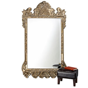 Marquette Antique Silver Rectangle Mirror