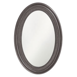 Ethan Glossy Charcoal Grey Oval Mirror