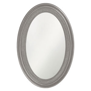 Ethan Glossy Nickel Oval Mirror