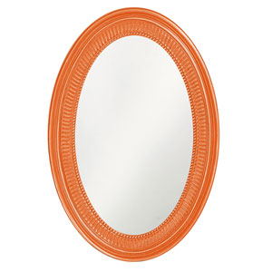 Ethan Glossy Orange Oval Mirror